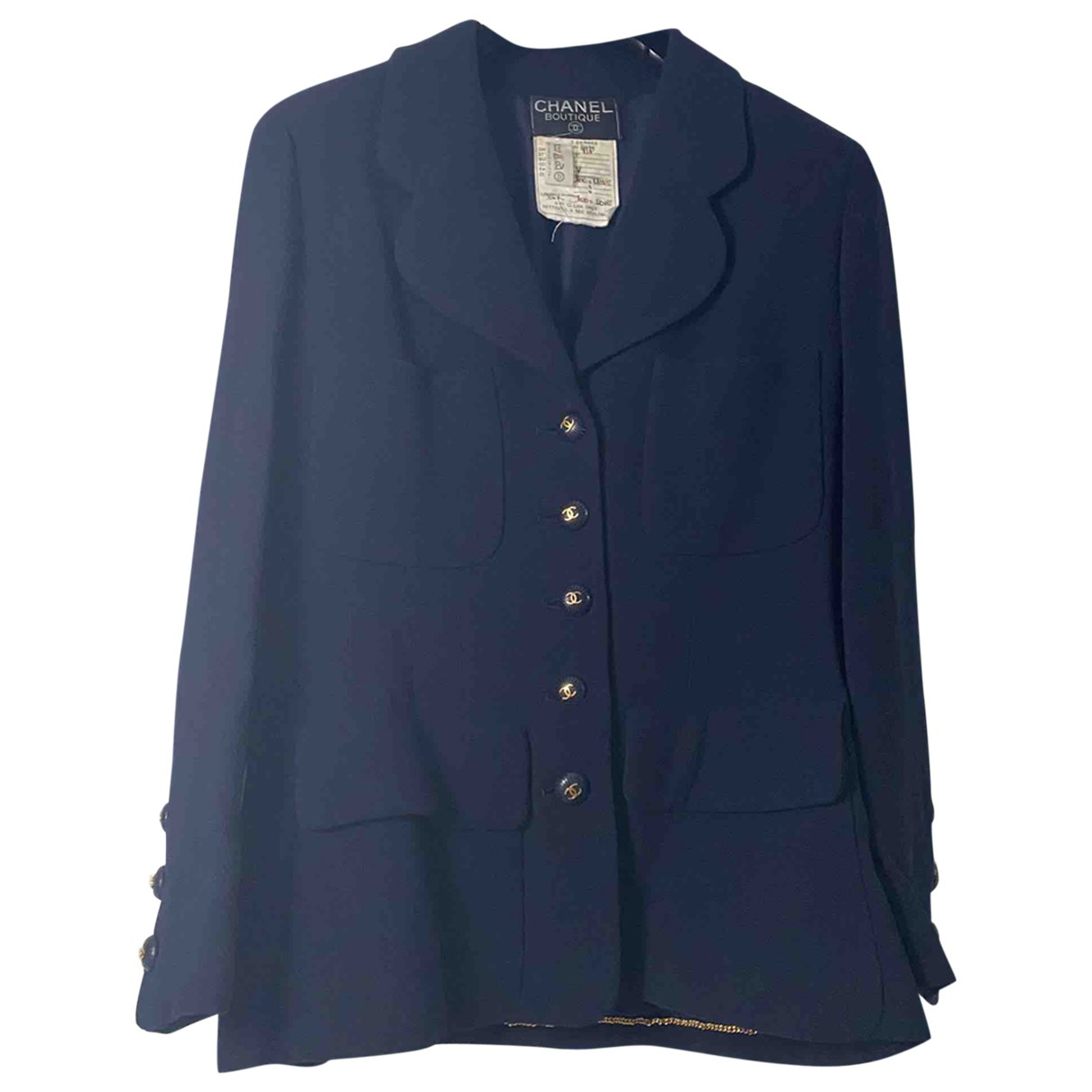 Chanel \N Navy jacket for Women 38 FR