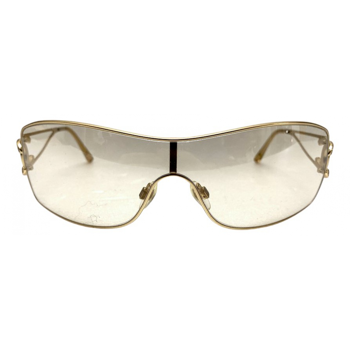 Chanel N Gold Metal Sunglasses for Women N
