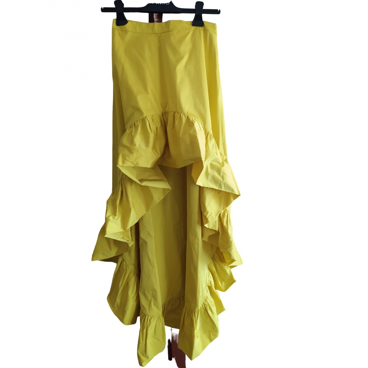 Pinko \N Yellow skirt for Women 40 IT
