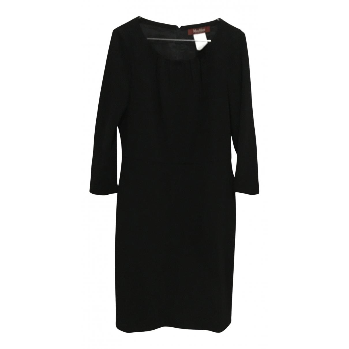 Max Mara Studio N Black Wool dress for Women 40 IT