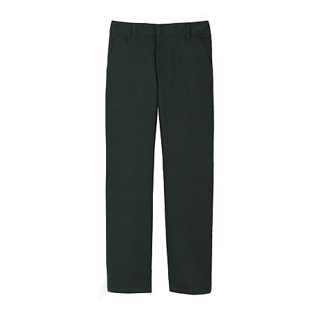 French Toast Little & Big Boys Flat Front Pant, 5 , Green