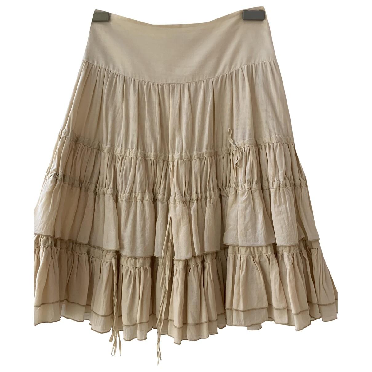 Blumarine - Jupe   pour femme en coton - ecru