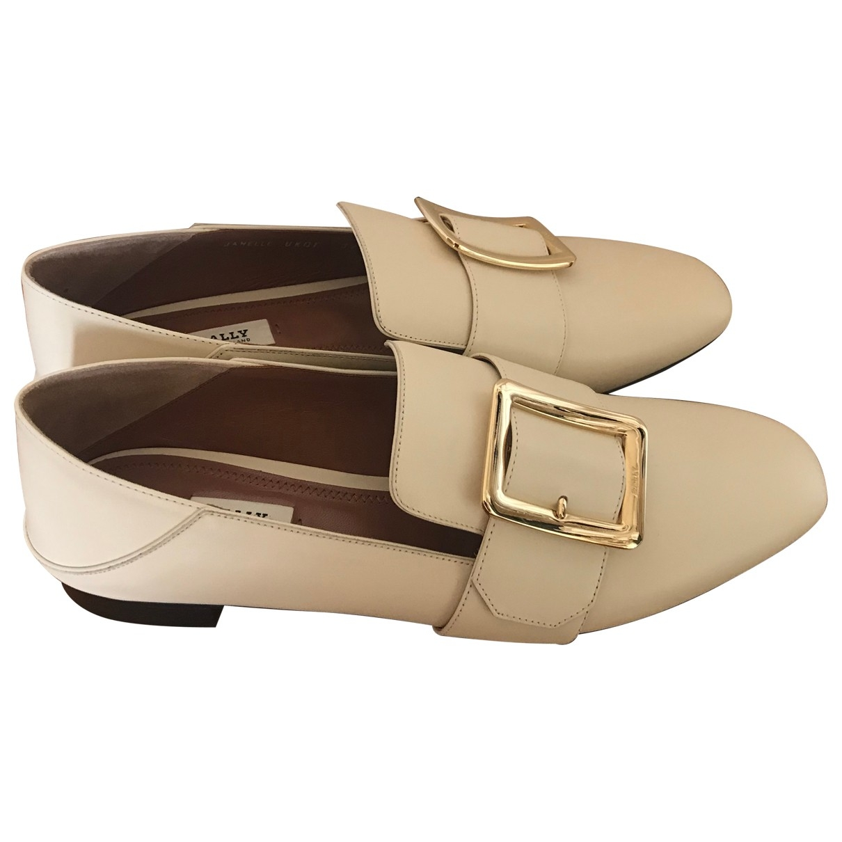 Bally \N White Leather Flats for Women 39.5 EU
