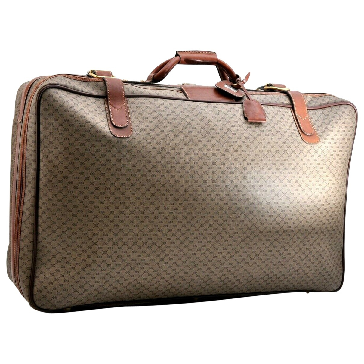 Gucci - Sac de voyage   pour femme en toile - marron