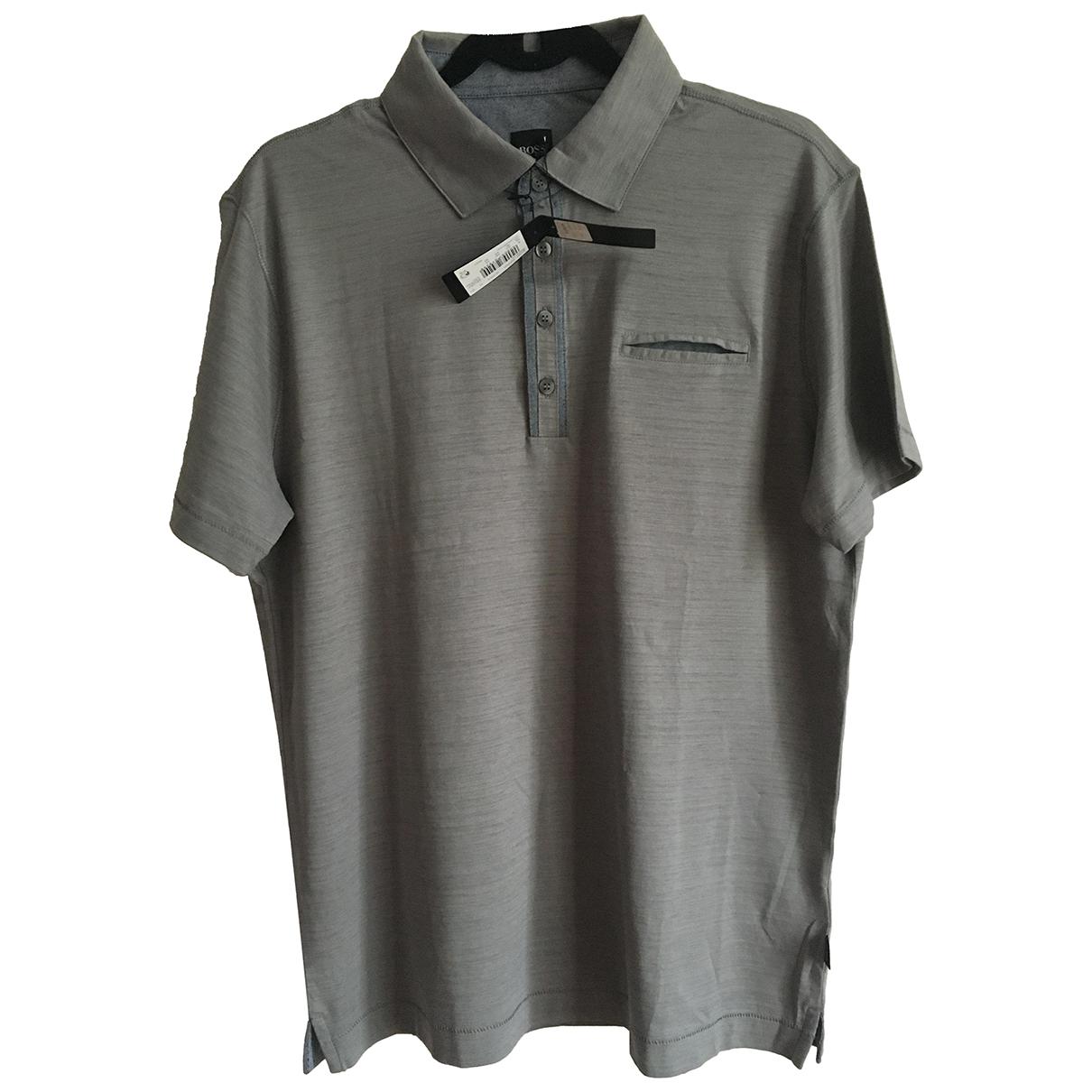 Boss - Tee shirts   pour homme en coton - gris