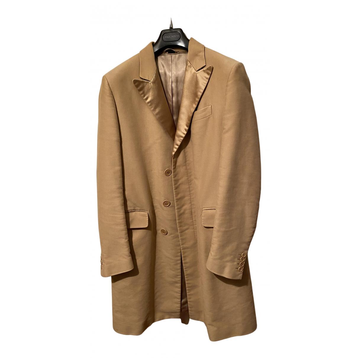 Helmut Lang - Manteau   pour homme en coton - beige