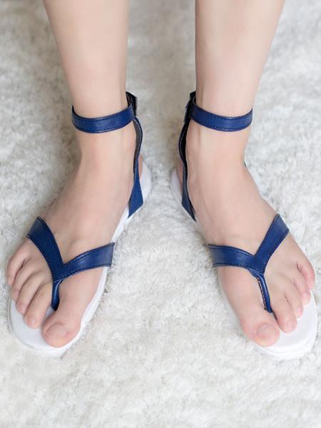 Milanoo Demon Slayer Kimetsu No Yaiba Cosplay Tomioka Giyuu Royal Blue Cosplay Sandal Halloween