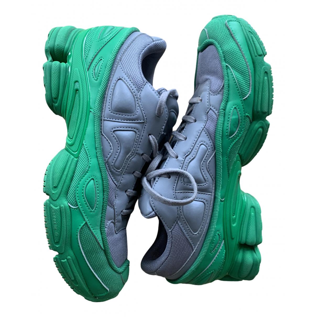 Adidas X Raf Simons - Baskets RS Ozweego pour homme en cuir verni - vert