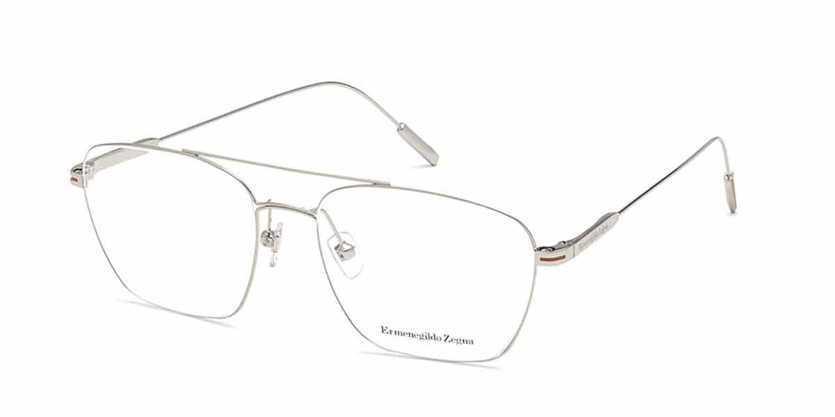 Ermenegildo Zegna EZ5206 016 Men's Glasses Silver Size 54 - Free Lenses - HSA/FSA Insurance - Blue Light Block Available