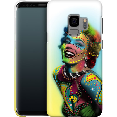 Samsung Galaxy S9 Smartphone Huelle - Woman With Pattern von Mark Ashkenazi