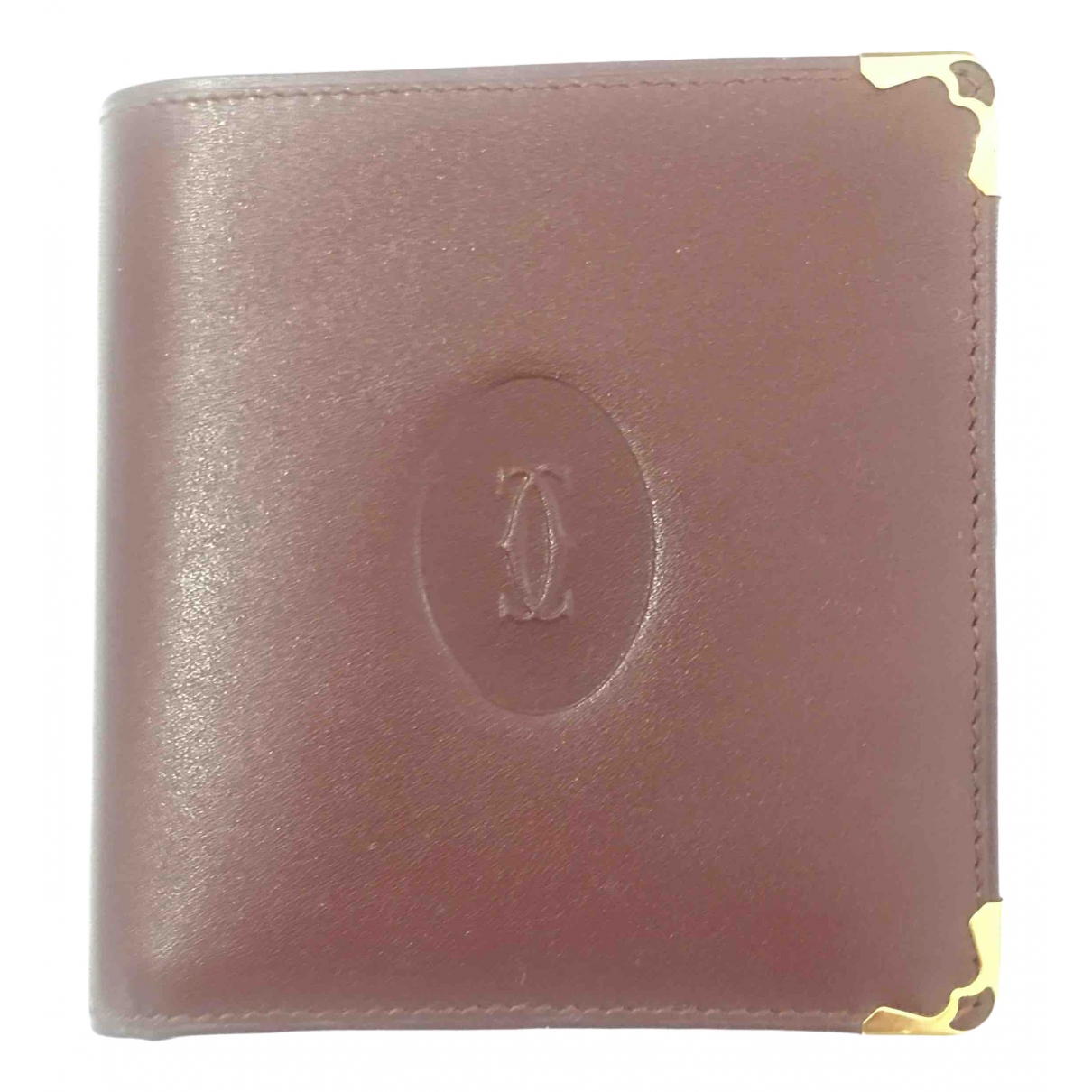 Cartier \N Kleinlederwaren in  Bordeauxrot Leder