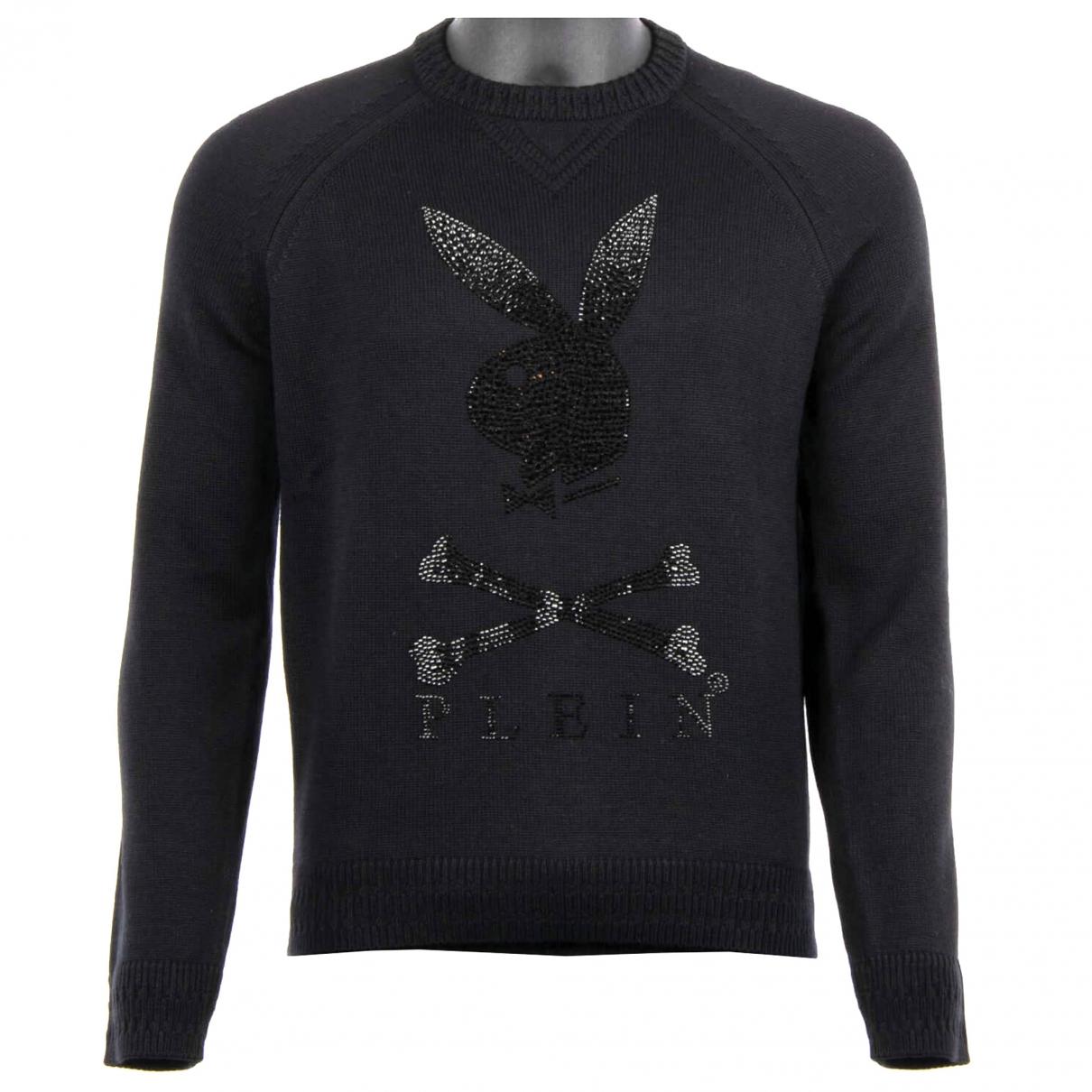 Philipp Plein \N Pullover.Westen.Sweatshirts  in  Schwarz Wolle