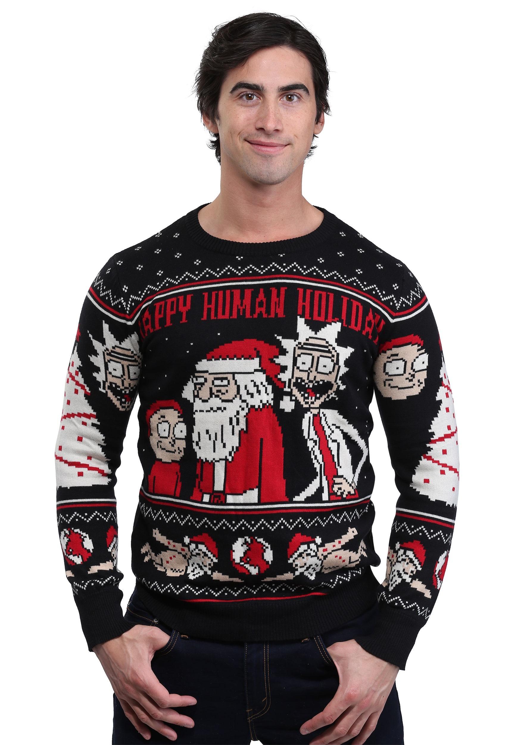 Rick & Morty Happy Human Adult Ugly Christmas Sweater