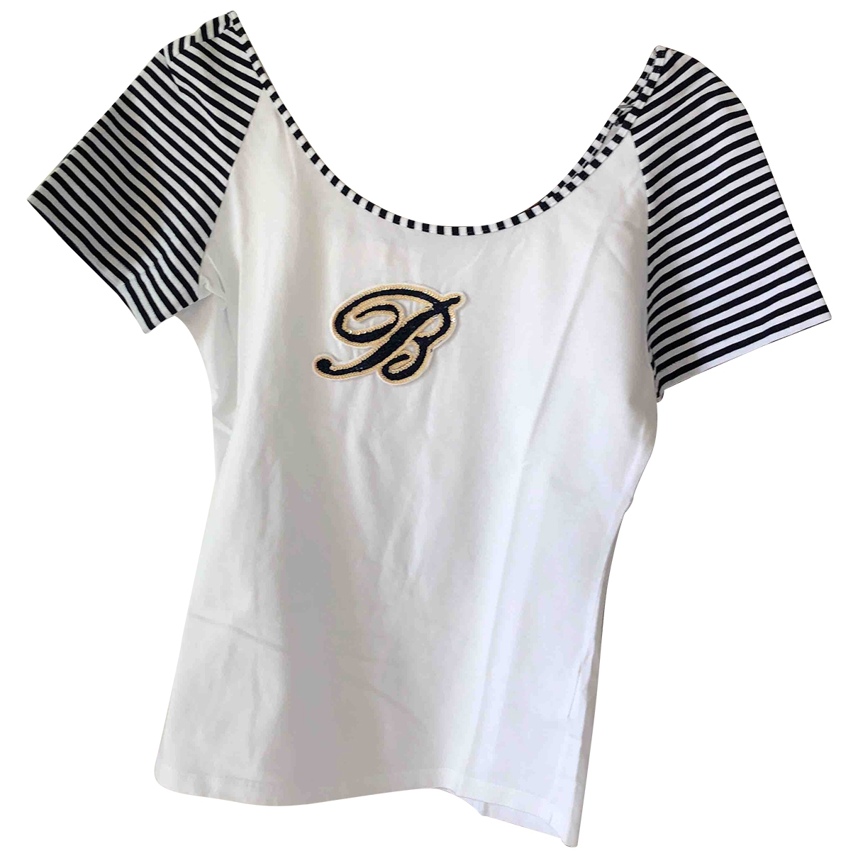 Blumarine \N White Cotton  top for Women 46 IT