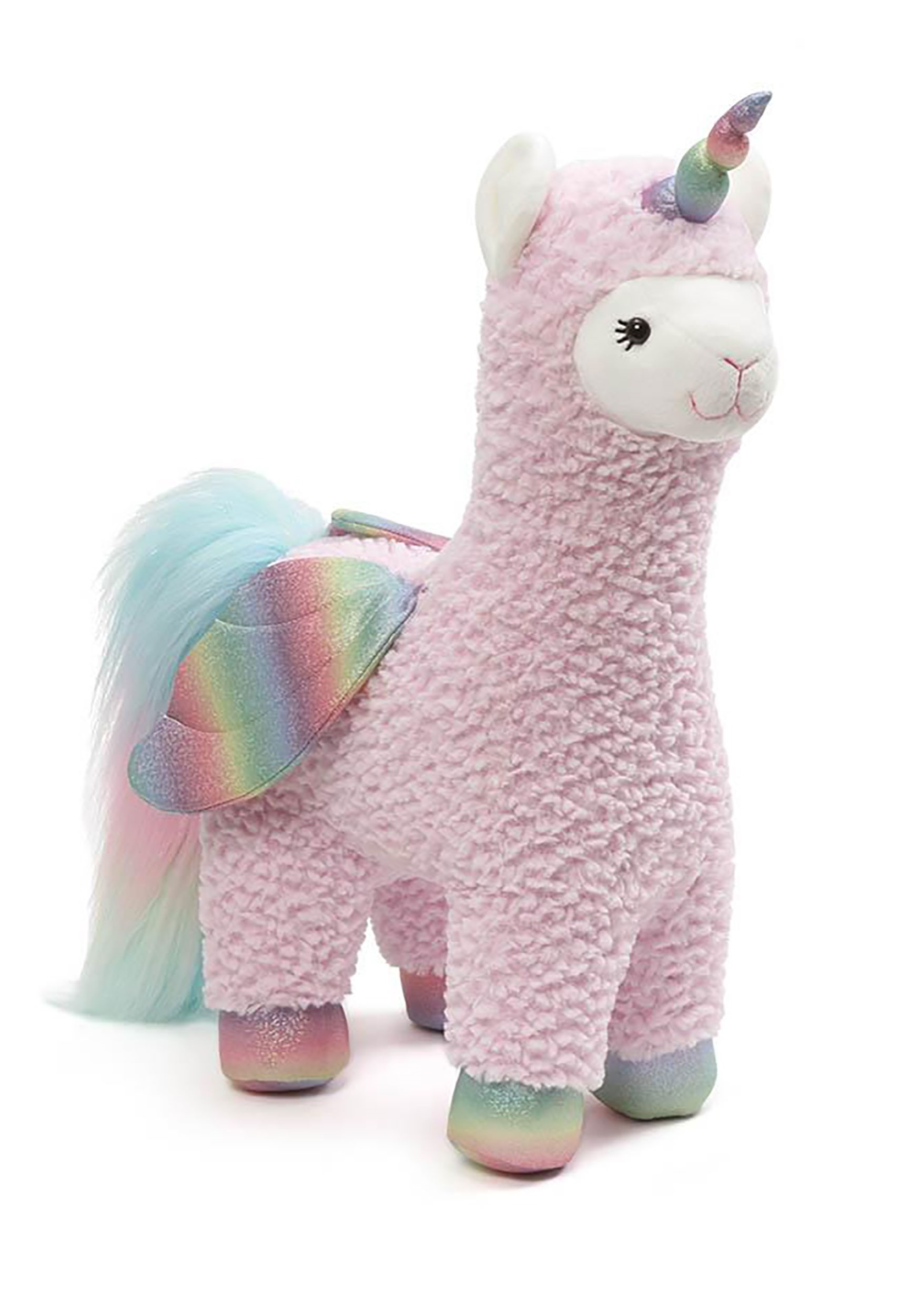 Sparkles Llamacorn Plush with Wings