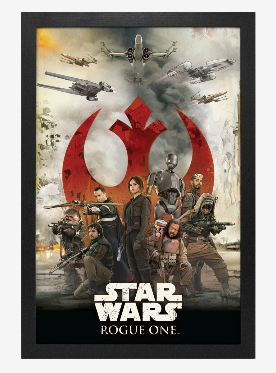 Star Wars Rogue One Rebels Logo Poster