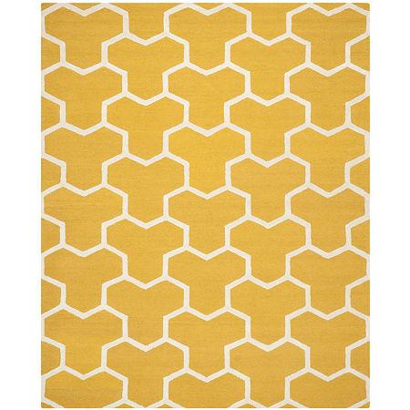 Safavieh Mckayla Geometric Hand Tufted Wool Rug, One Size , Yellow