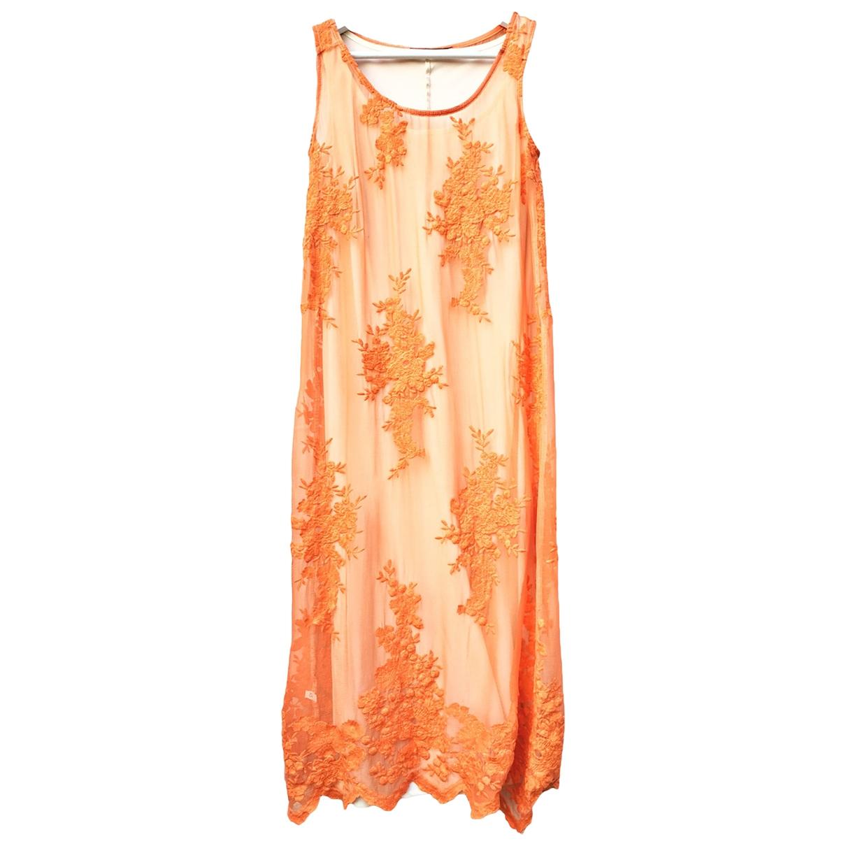 Twin Set \N Kleid in  Orange Baumwolle