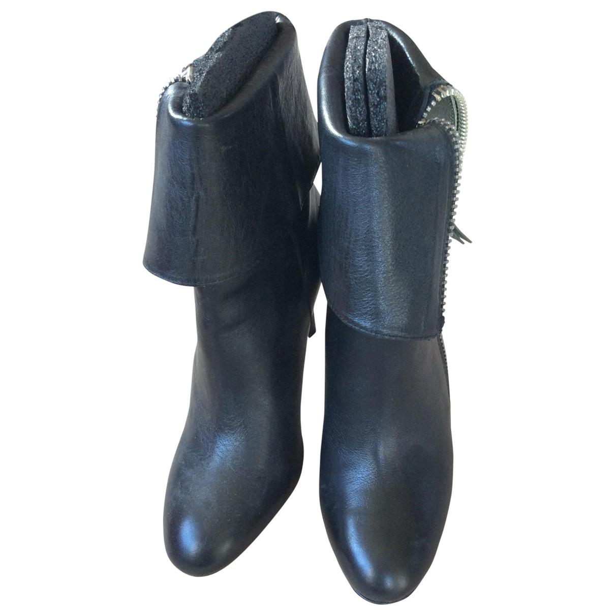 Jean-michel Cazabat \N Stiefeletten in  Schwarz Leder