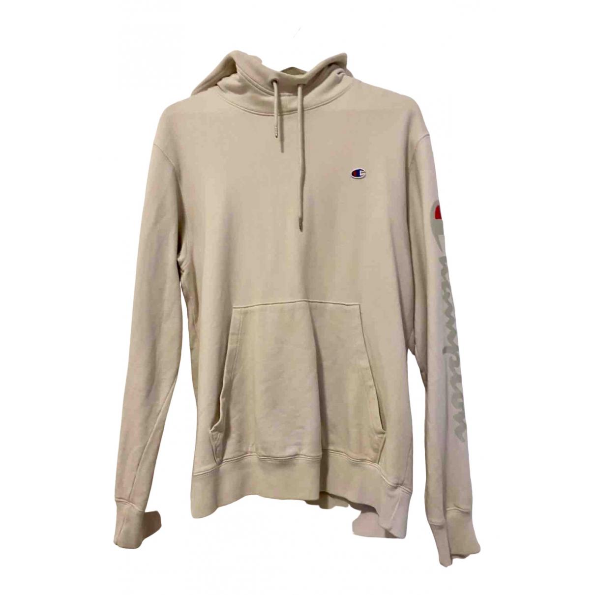 Champion \N Pullover.Westen.Sweatshirts  in  Ecru Baumwolle