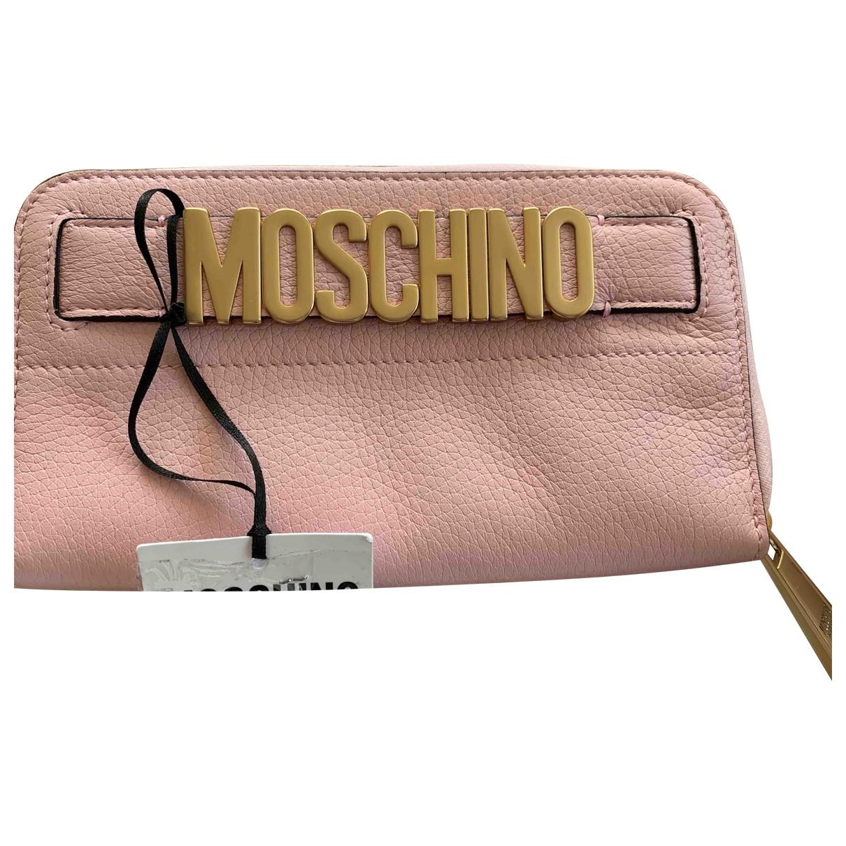 Moschino \N Portemonnaie in  Rosa Leder