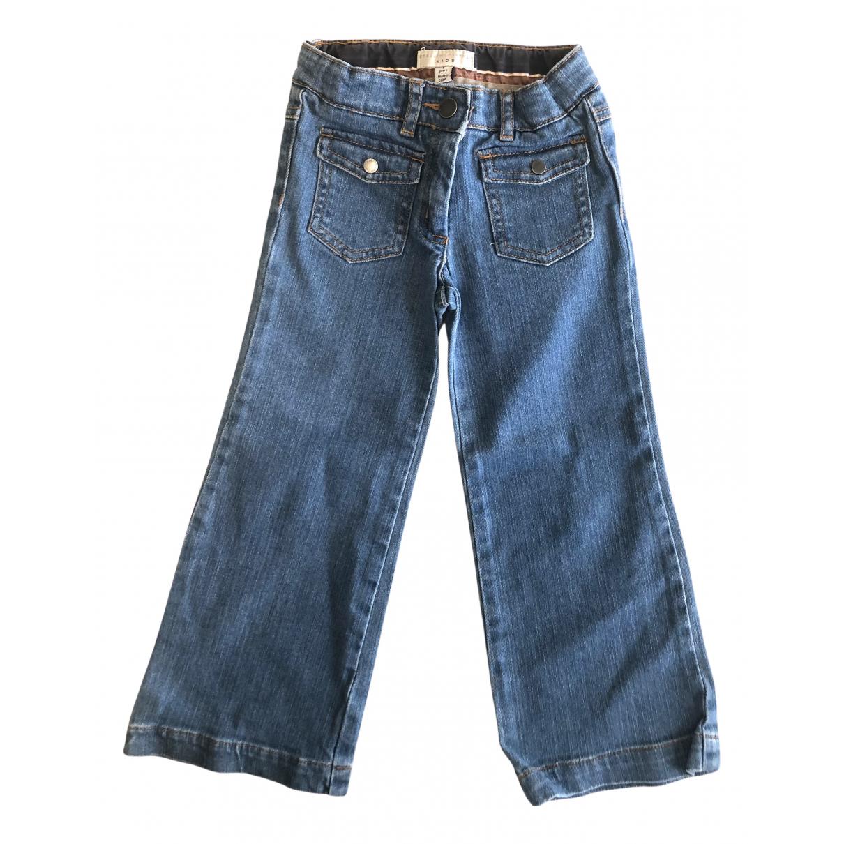 Stella Mccartney Kids - Pantalon   pour enfant en denim - bleu