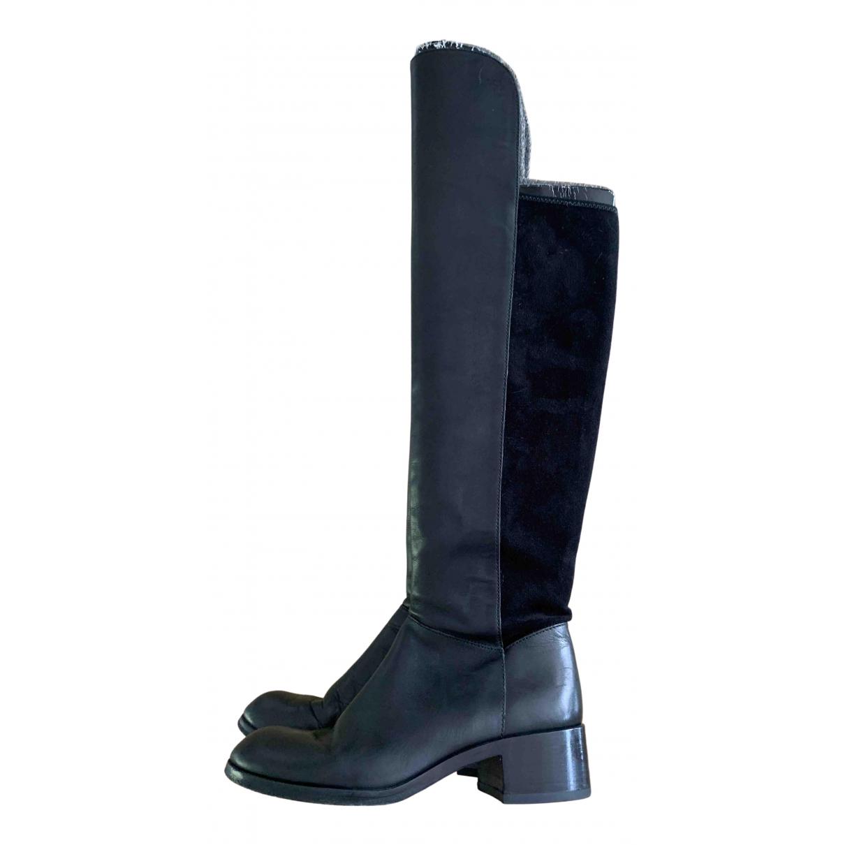 Marc By Marc Jacobs - Bottes   pour femme en cuir - noir