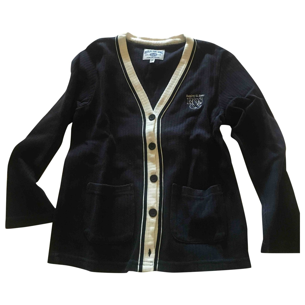 Replay - Pull   pour enfant en coton - bleu