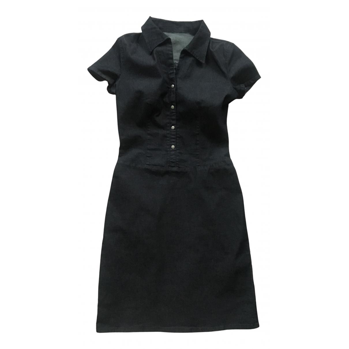 Non Signé / Unsigned \N Anthracite Cotton - elasthane dress for Women XXS International