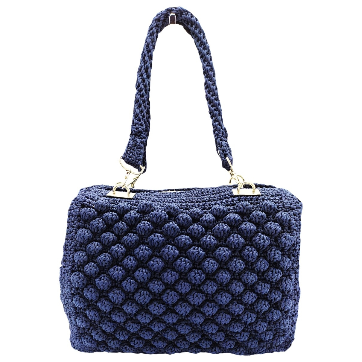 Non Signé / Unsigned \N Blue Cloth handbag for Women \N