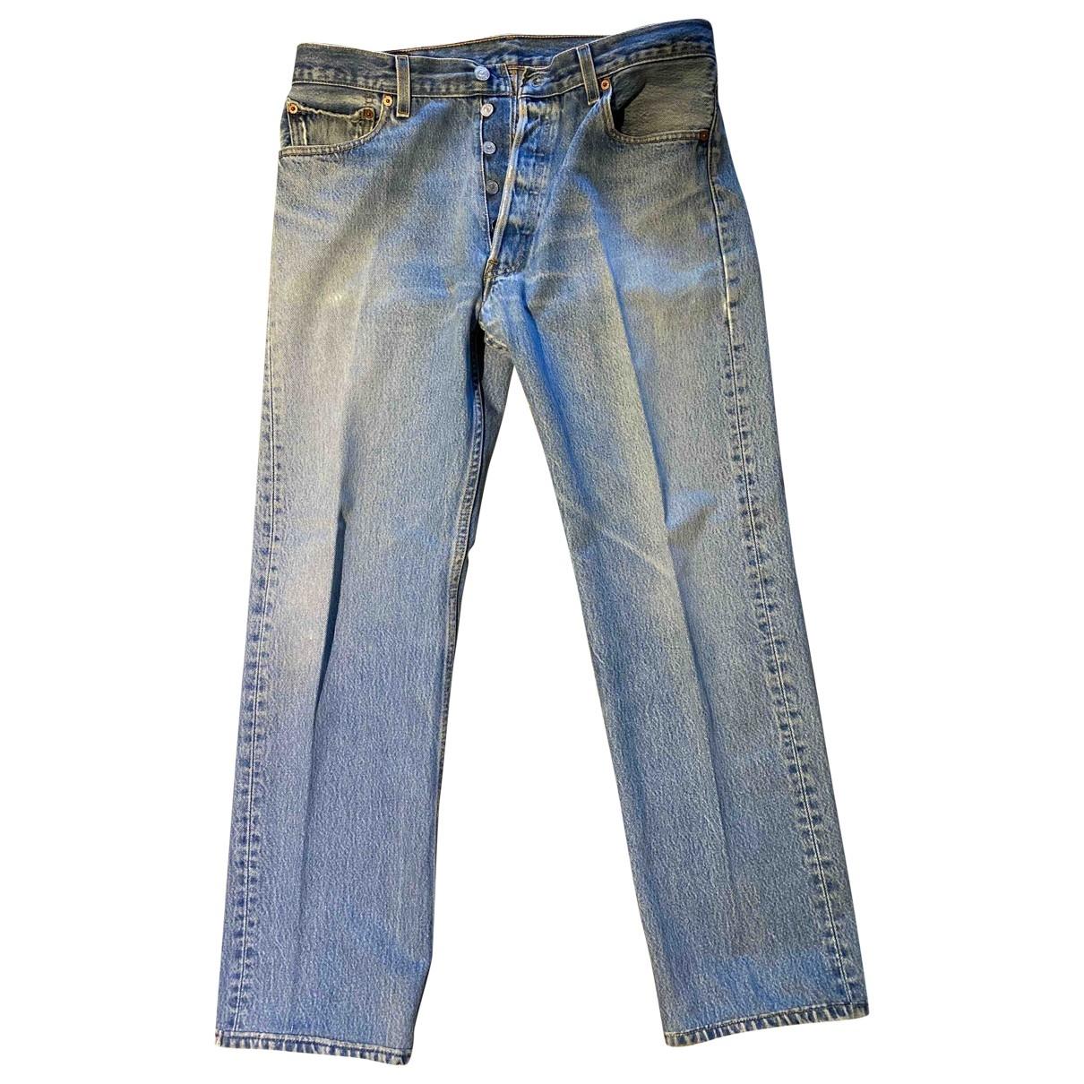 Levi's 501 Blue Cotton Jeans for Men 34 US
