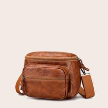 Pocket Front Crossbody Bag