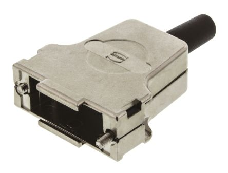 HARTING Metal D-sub Connector Backshell, 15 Way, Strain Relief