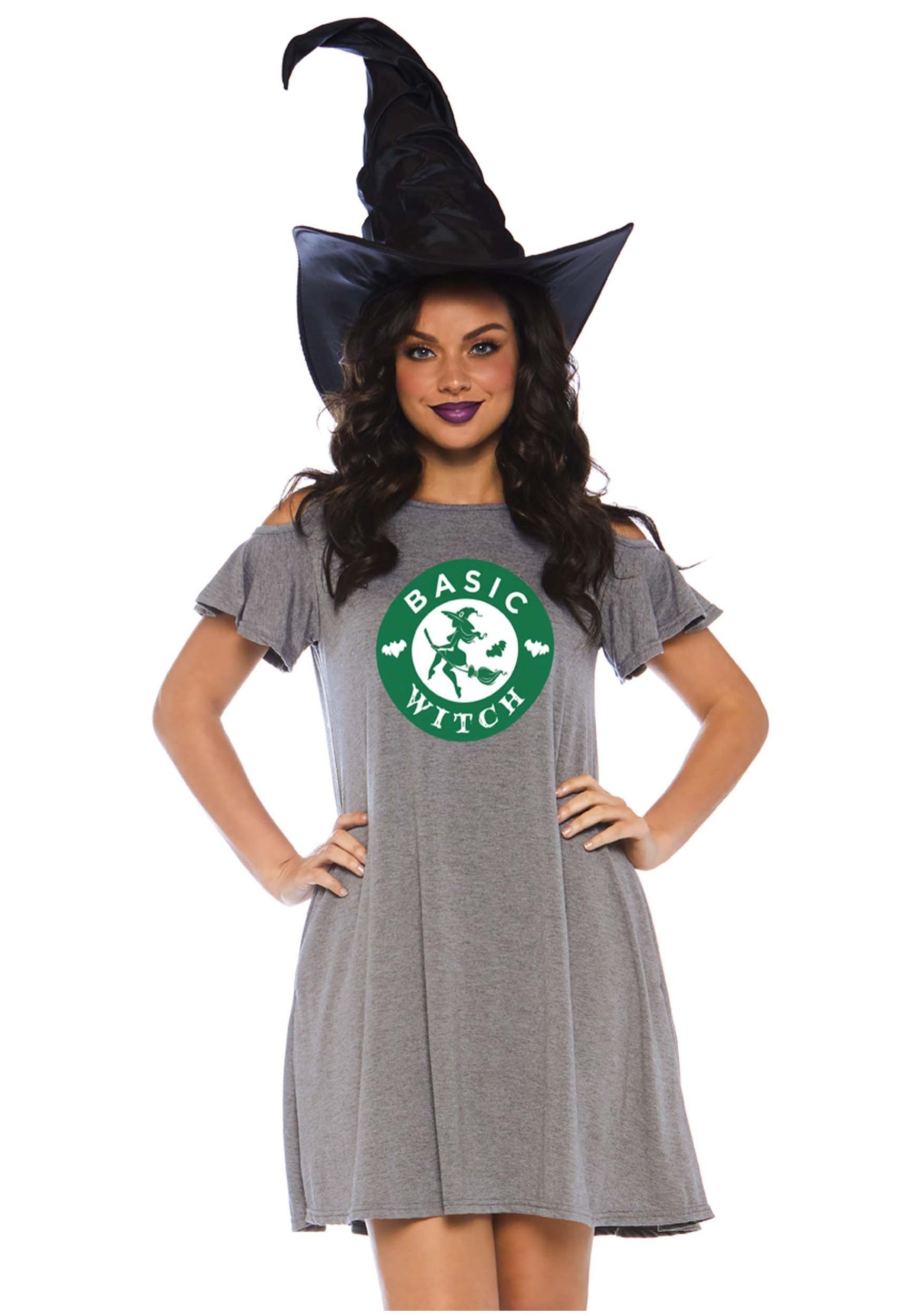 Basic Witch Jersey Dress Costume