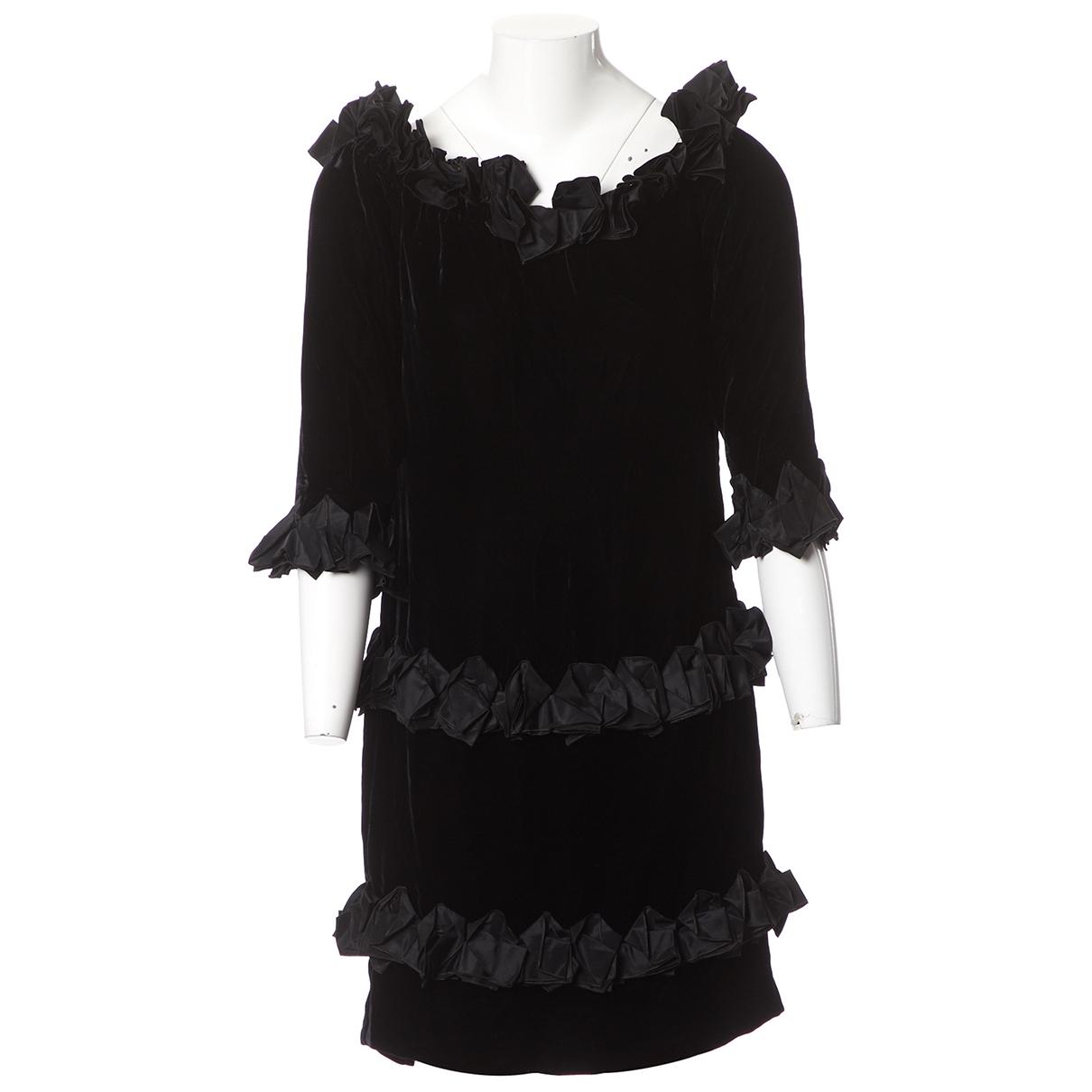 Mini vestido de Terciopelo Saint Laurent