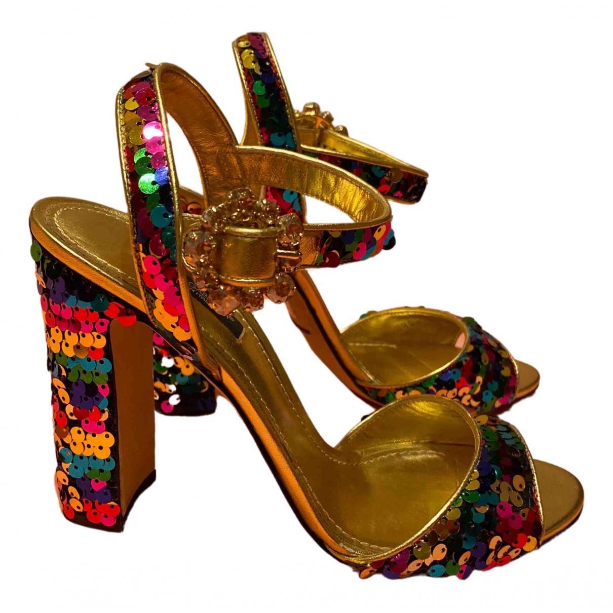 Dolce & Gabbana - Sandales   pour femme en a paillettes - multicolore