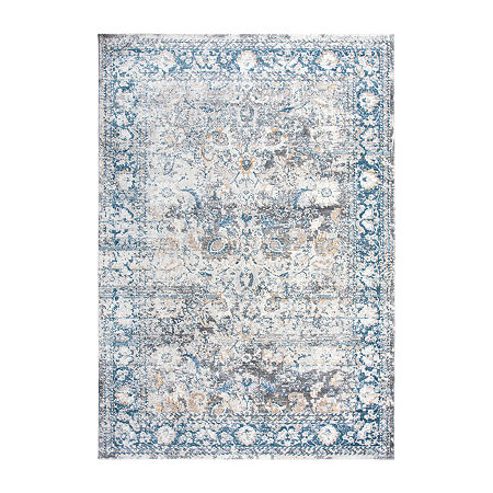 Rizzy Home Zev Rectangular Indoor Rugs, One Size , Blue