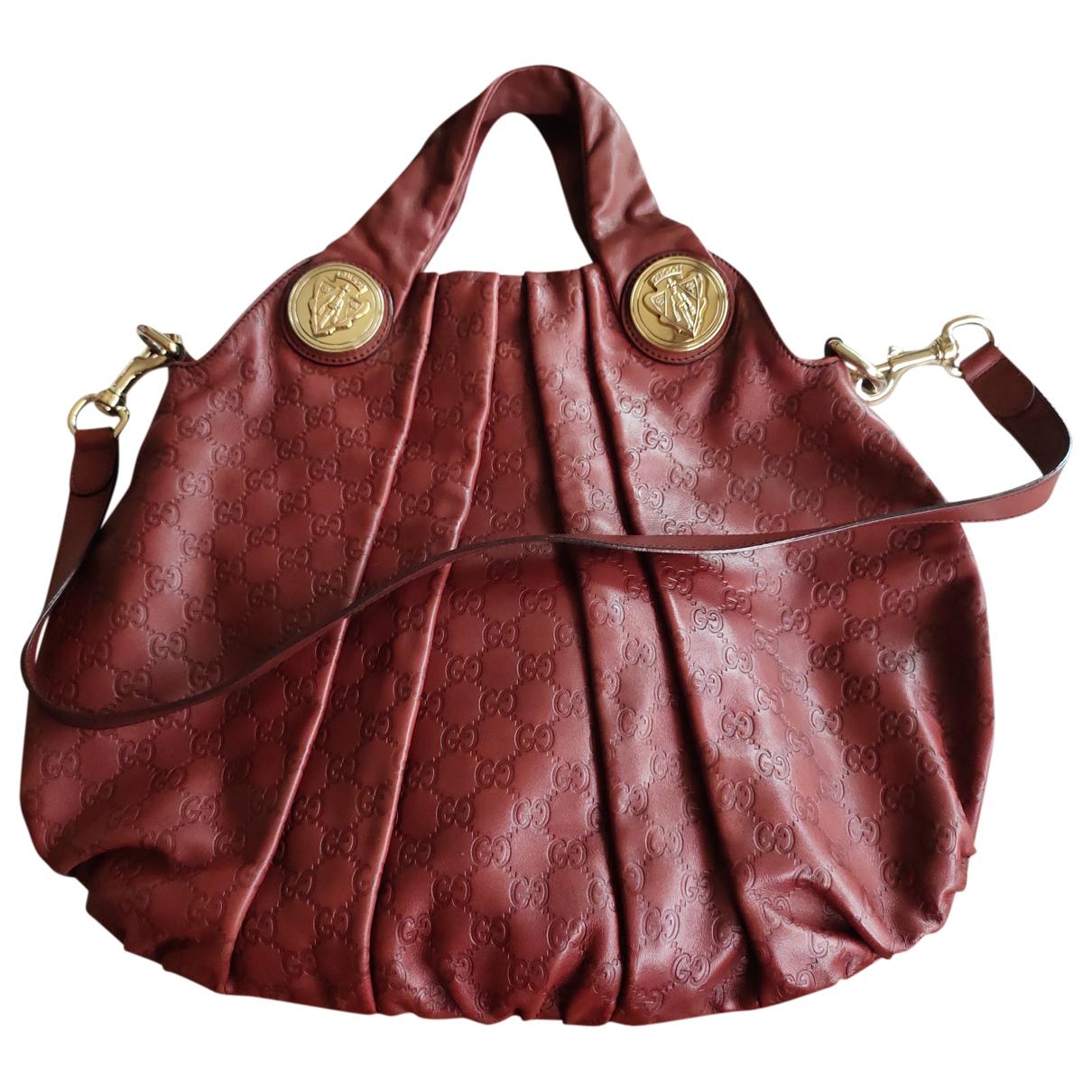 Gucci Hysteria Handtasche in  Rot Leder