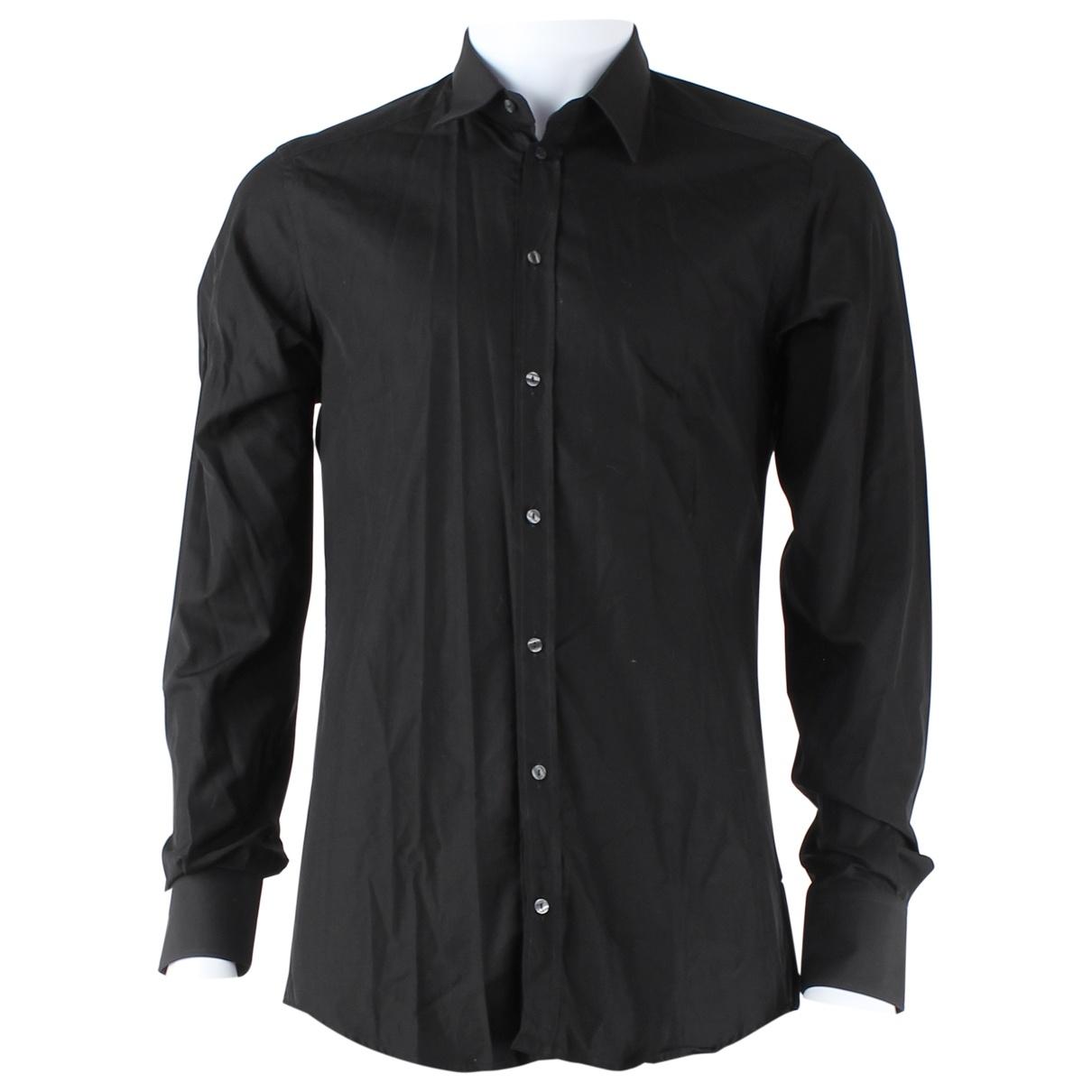 Dolce & Gabbana \N Black Cotton Shirts for Men S International