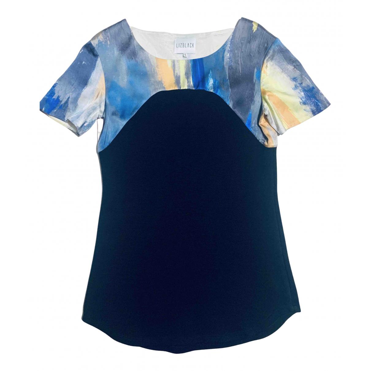 Non Signé / Unsigned N Black Cotton  top for Women L International