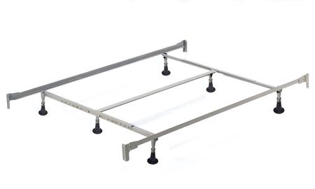 90060 California King Bed Frame With Adjustable Metal Frame and Floor