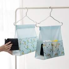 1 pieza bolsa de ropa con estampado de flor
