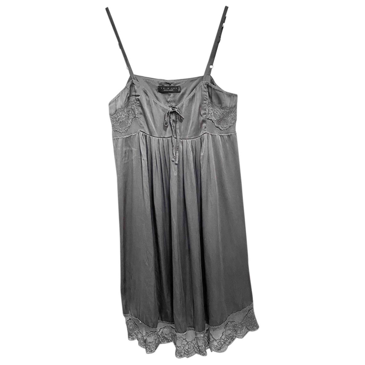 Twin Set N Grey Silk dress for Women L International