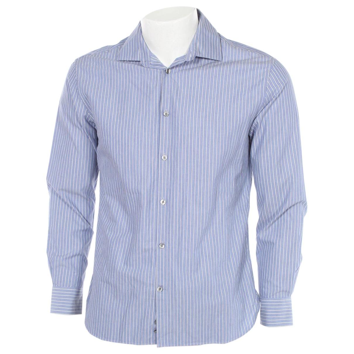John Varvatos \N Blue Cotton Shirts for Men 15.5 UK - US (tour de cou / collar)