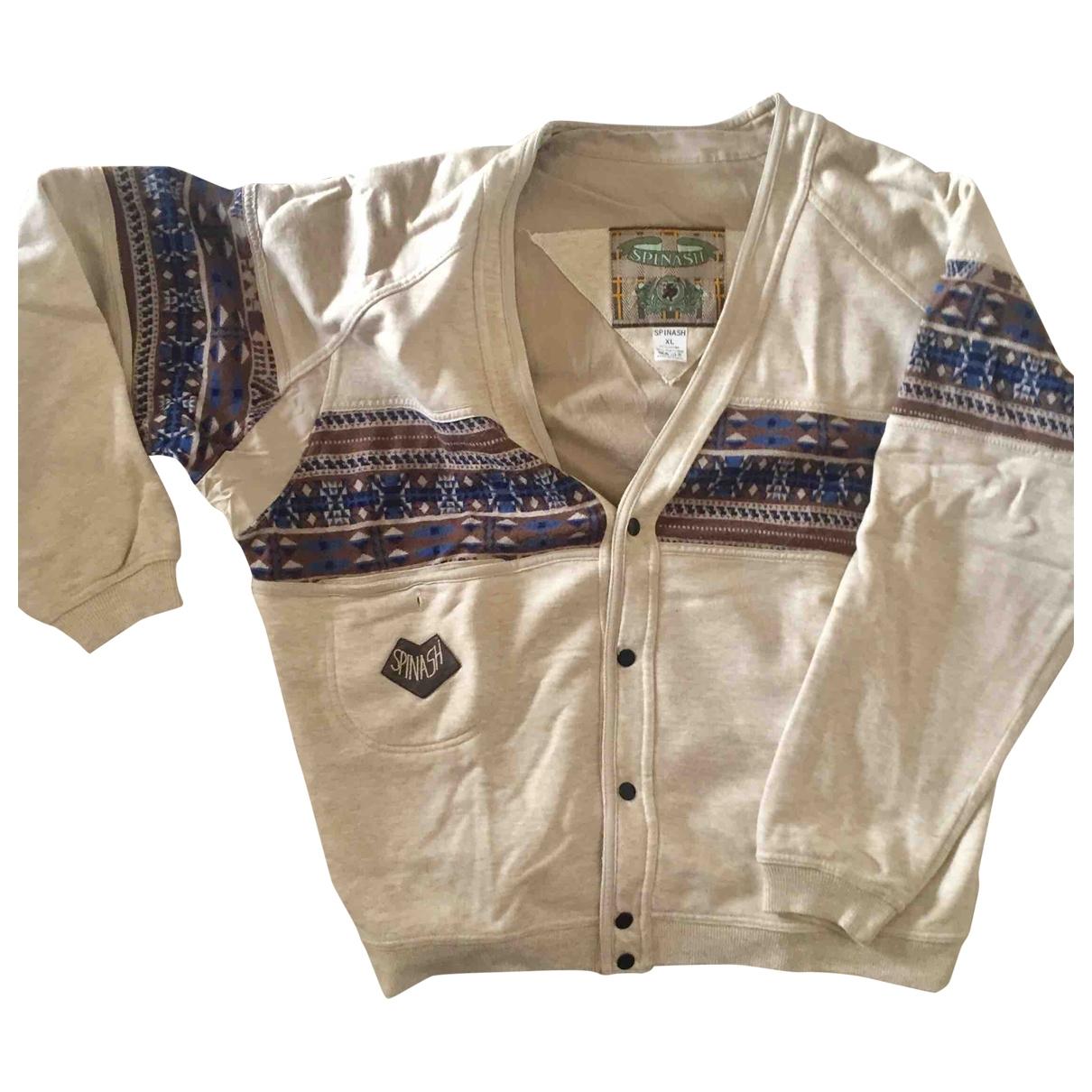 Non Signe / Unsigned \N Pullover.Westen.Sweatshirts  in  Beige Baumwolle