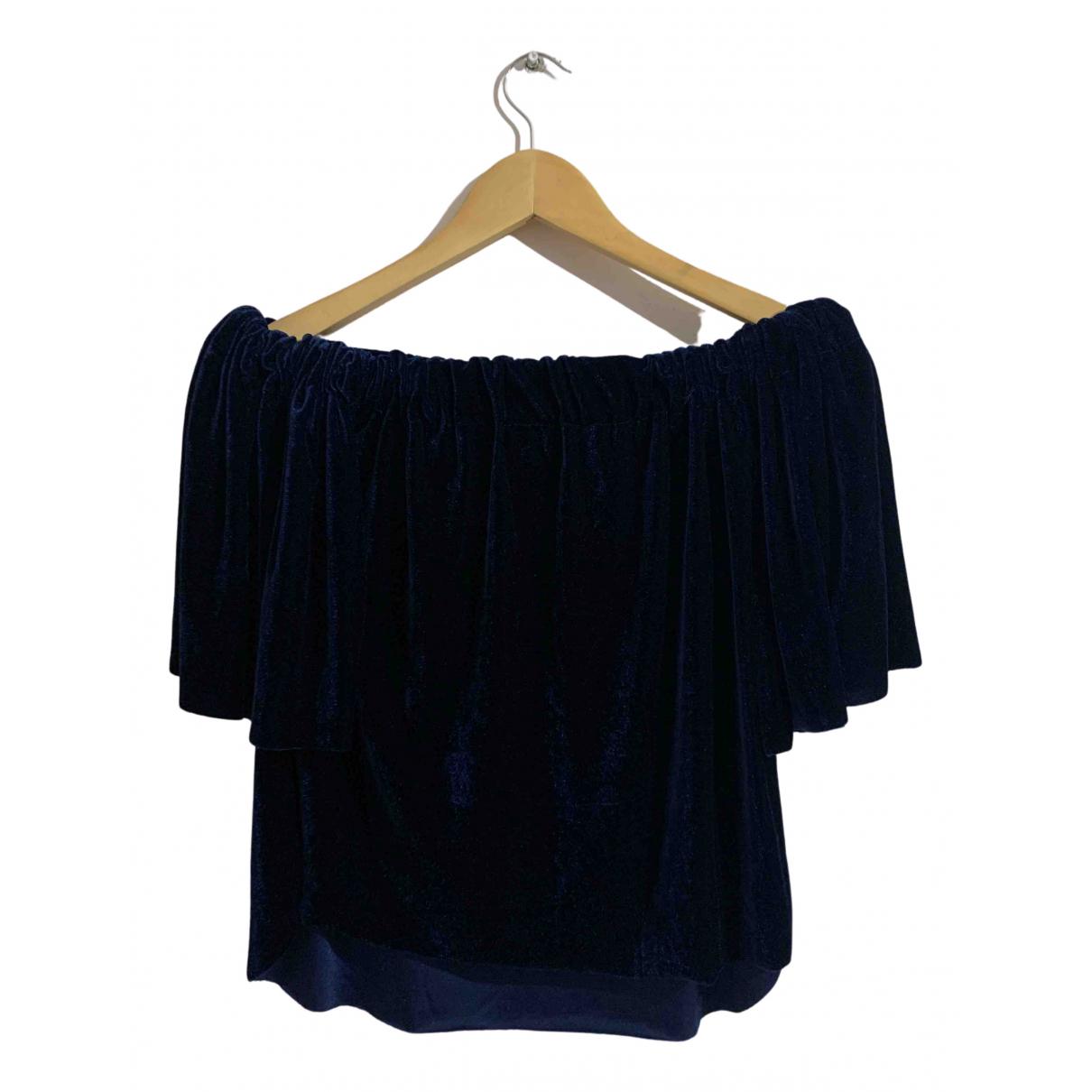 - Top   pour femme en velours - bleu