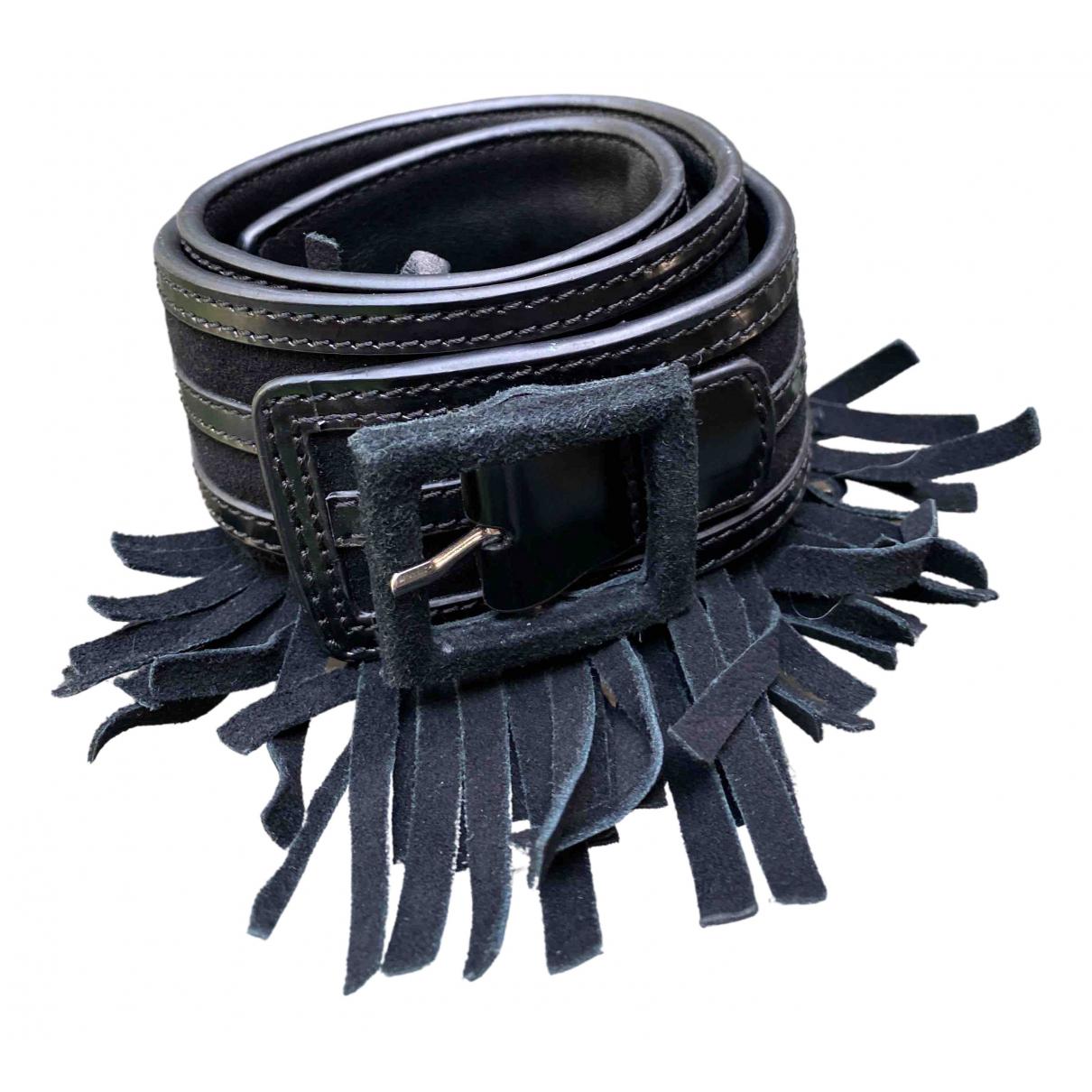 Reiss \N Guertel in  Schwarz Leder
