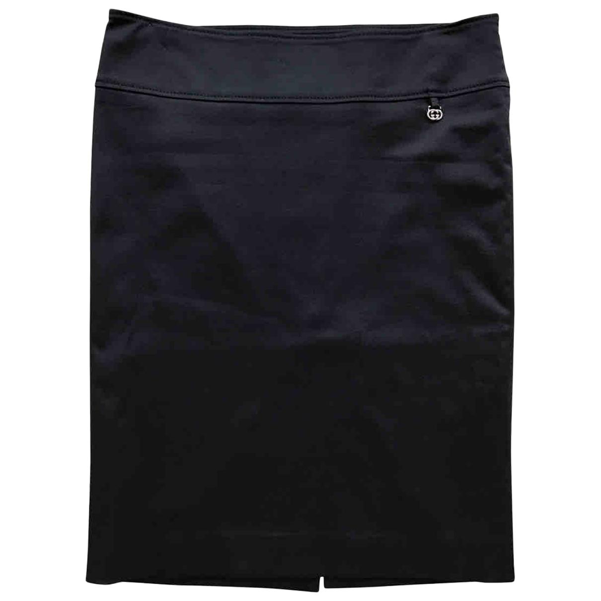 Gucci \N Black Cotton skirt for Women 38 IT