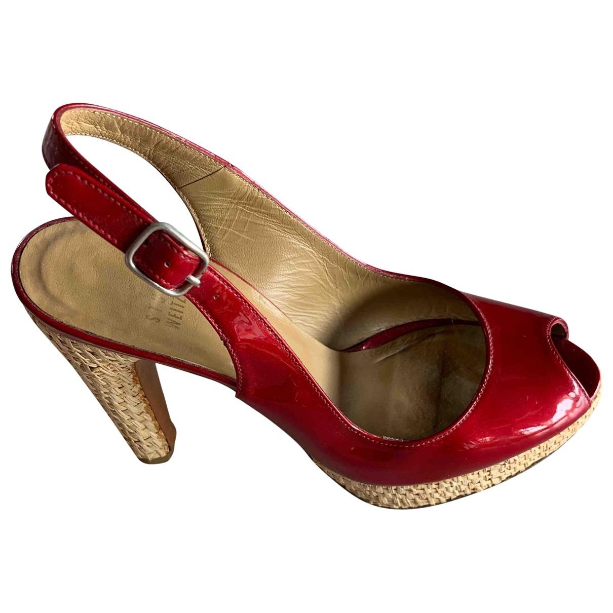 Stuart Weitzman \N Sandalen in  Rot Lackleder