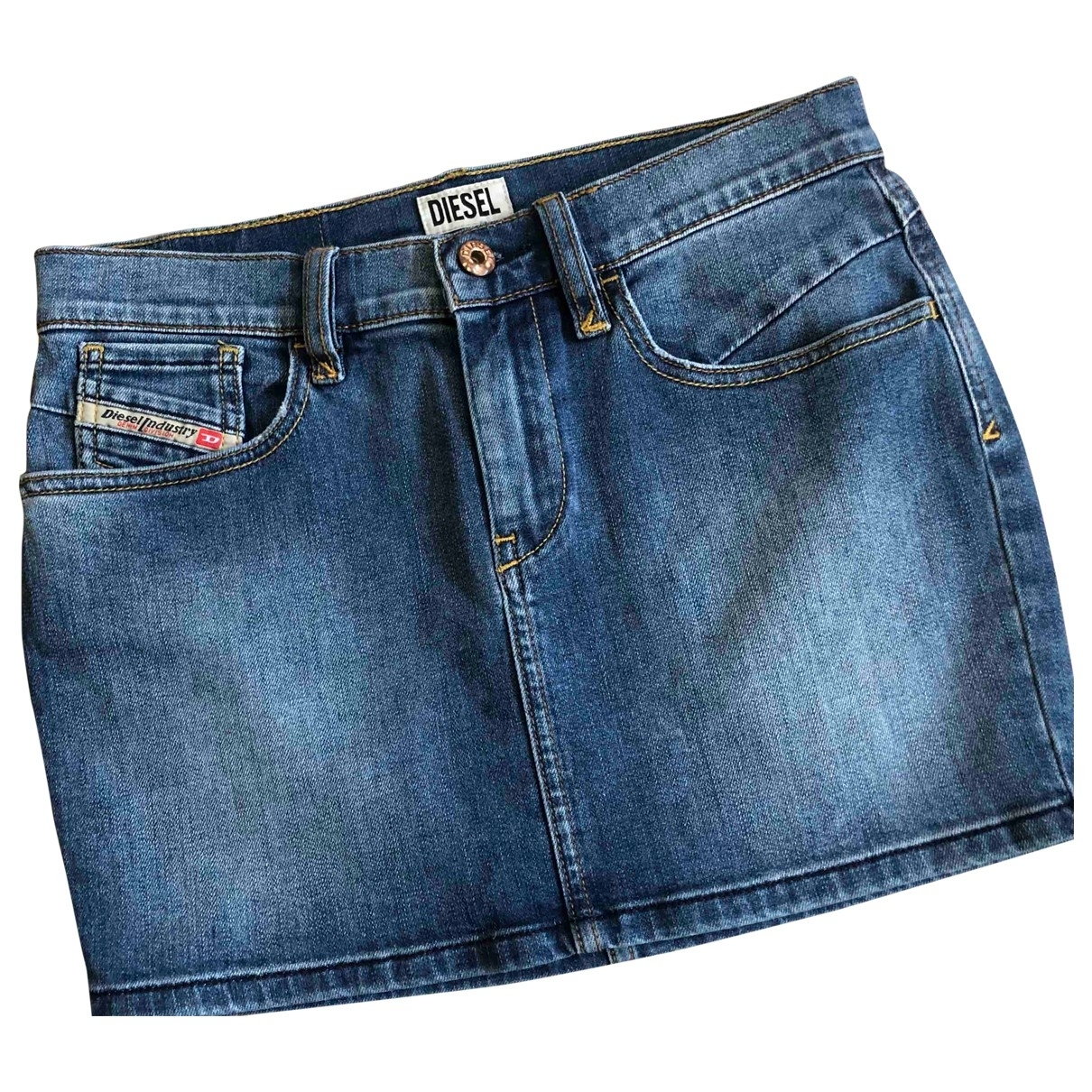Diesel \N Blue Denim - Jeans skirt for Women 36 FR